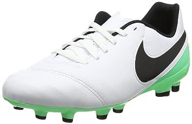 d77f42b38 Nike Kids' Jr Tiempo Legend VI FG Football Boots, Multicolour (White/Black