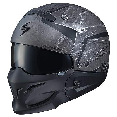 Scorpion Covert Helmet - Incursion (X-Large) (Black/Grey): Automotive
