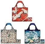 LOQI Lively Artworks Museum - Bolsas reutilizables (3 unidades), multicolor