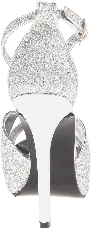 Touch Ups Women's Tiara Sandal B00CQI0WTS 10 B(M) US|Silver Glitter