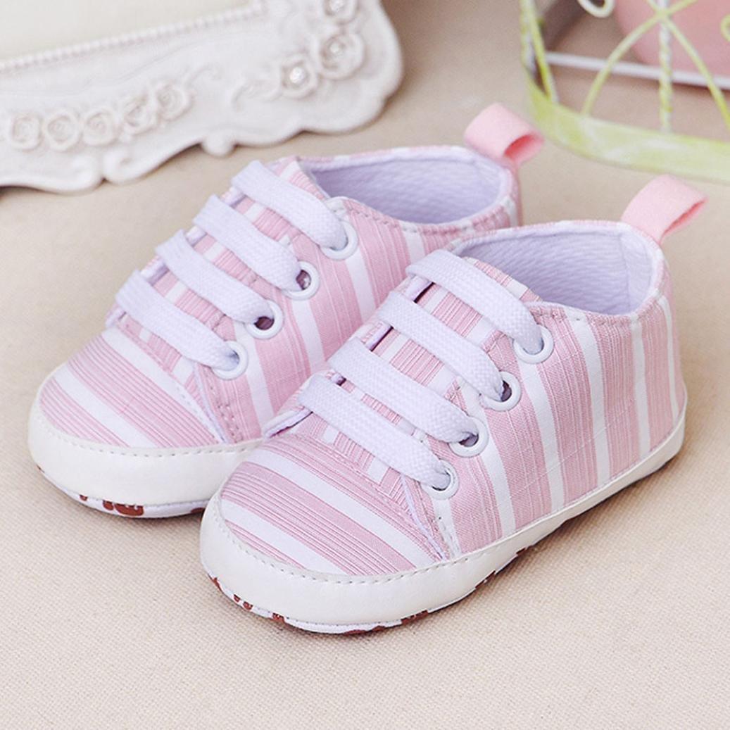 Voberry Toddler Baby Boys Girls Anti-Skid Basic Canvas Sneaker
