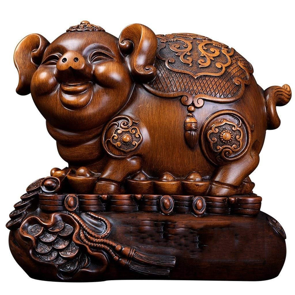 ZXC Home Personality Pig Rich and Prosperous Decorations Family Living Room Piggy Bank to Send Friends to Move Gifts by ZXC Home