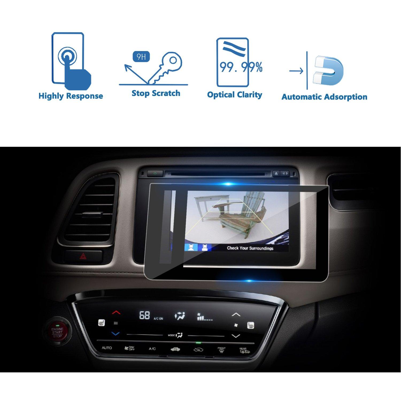 LFOTPP 2016-2018 Honda HRV HR-V EX EXL Navi Display 7 Inch Car Navigation Screen Protector Left Tempered Glass 9H Hardness Audio Infotainment Display Center Touch Protective Film Scratch-Resistant LiFan 2016-18 Honda HRV EX EXL-Navi 7 Inch