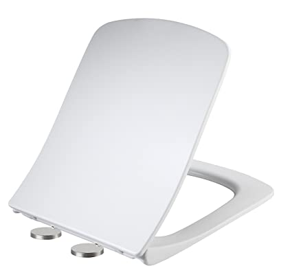 Swell White Square Shaped Soft Close Toilet Seat Easy Instal And Release Quick Fixing Uf Anti Bacterial Quick Release With Slow Closing Hinges Adjustable Onthecornerstone Fun Painted Chair Ideas Images Onthecornerstoneorg