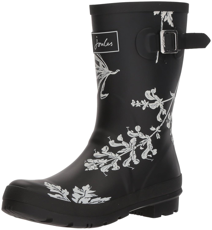 Joules Women's Mollywelly Rain Boot B073XJJGCX 6 B(M) US|Black Botanical