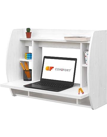 COMIFORT Escritorio de Pared, Mesa de Ordenador de Pared, 82x39x60 cm