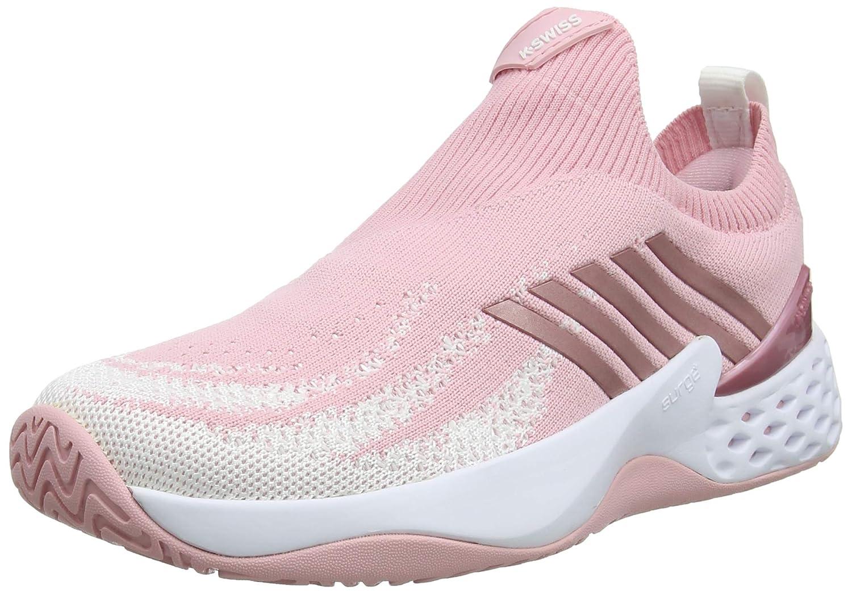 Coral bluesh White K-Swiss Aero Knit Womens Tennis shoes