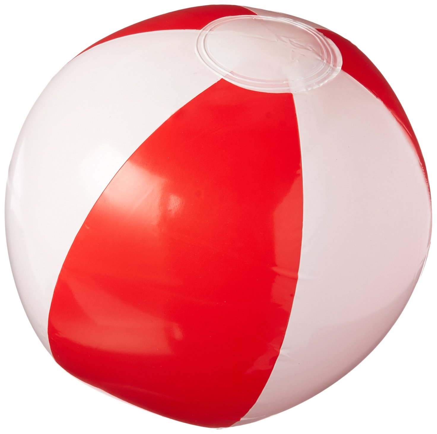 Rhode Island Novelty 12'' Red & White Beach Ball (12 Piece Per Order)