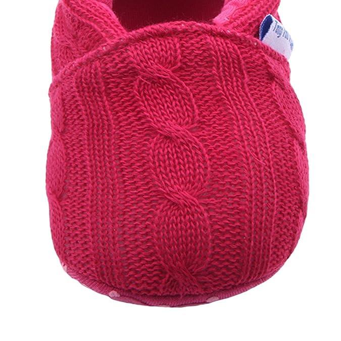 V-SOL Zapatos Primero Pasos para Bebé Únisex Antideslizante Suave Rojo Talla 11CM wKNnJWR