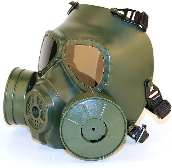 SGOYH Tattico Airsoft Paintbal Protection Gear Manichino Maschera Antigas Antigas con Ventola Turbo