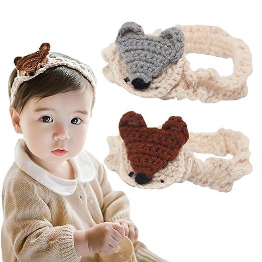 Zando Baby Girls Toddler Kids Cute Turban Headband Head Bows Soft Sweet  Hairband Animals 2 fe260b6d43b