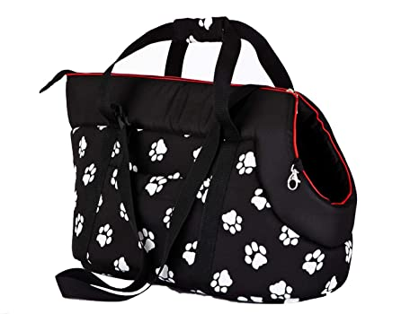 Hobbydog - Bolsa de Transporte para Perros y Gatos, tamaño 1, Color Negro con