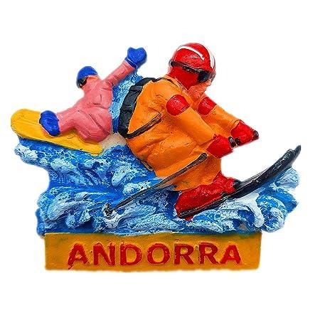 Hqiyaols Souvenir Estación de esquí Andorra Refrigerador 3D Imán ...