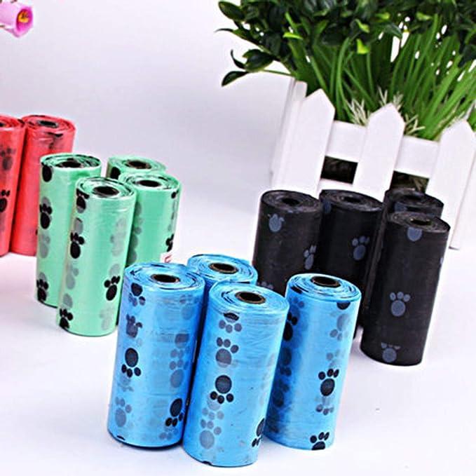 additivo Standard e EPI per la Decorazione della casa Casuale ngshanquzhuyu Eleganti Sacchetti per i rifiuti del Cane con Dispenser e Clip per guinzaglio