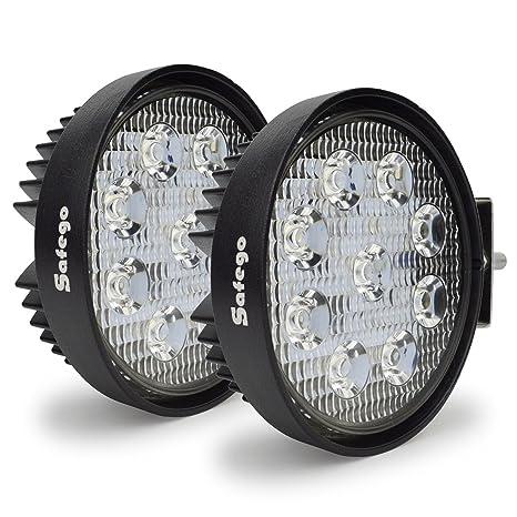2x 120 Lm Motorcycle White Led Spotlight Headlight Driving Light Motorbike Spotlights Accessory Motor Fog Spot Head Light Reliable Performance Automobiles & Motorcycles