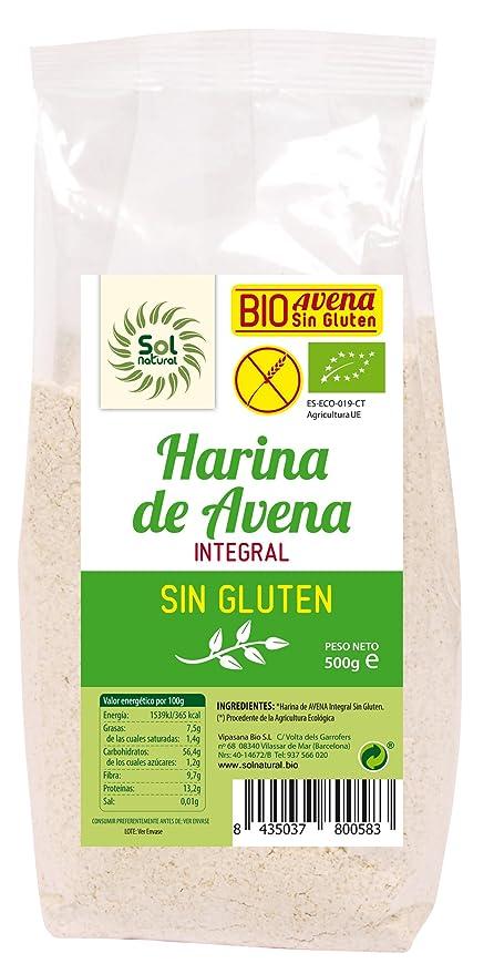 Sol Natural Harina de Avena, sin Gluten - Paquete de 6 x 500 gr - Total: 3000 gr: Amazon.es: Alimentación y bebidas