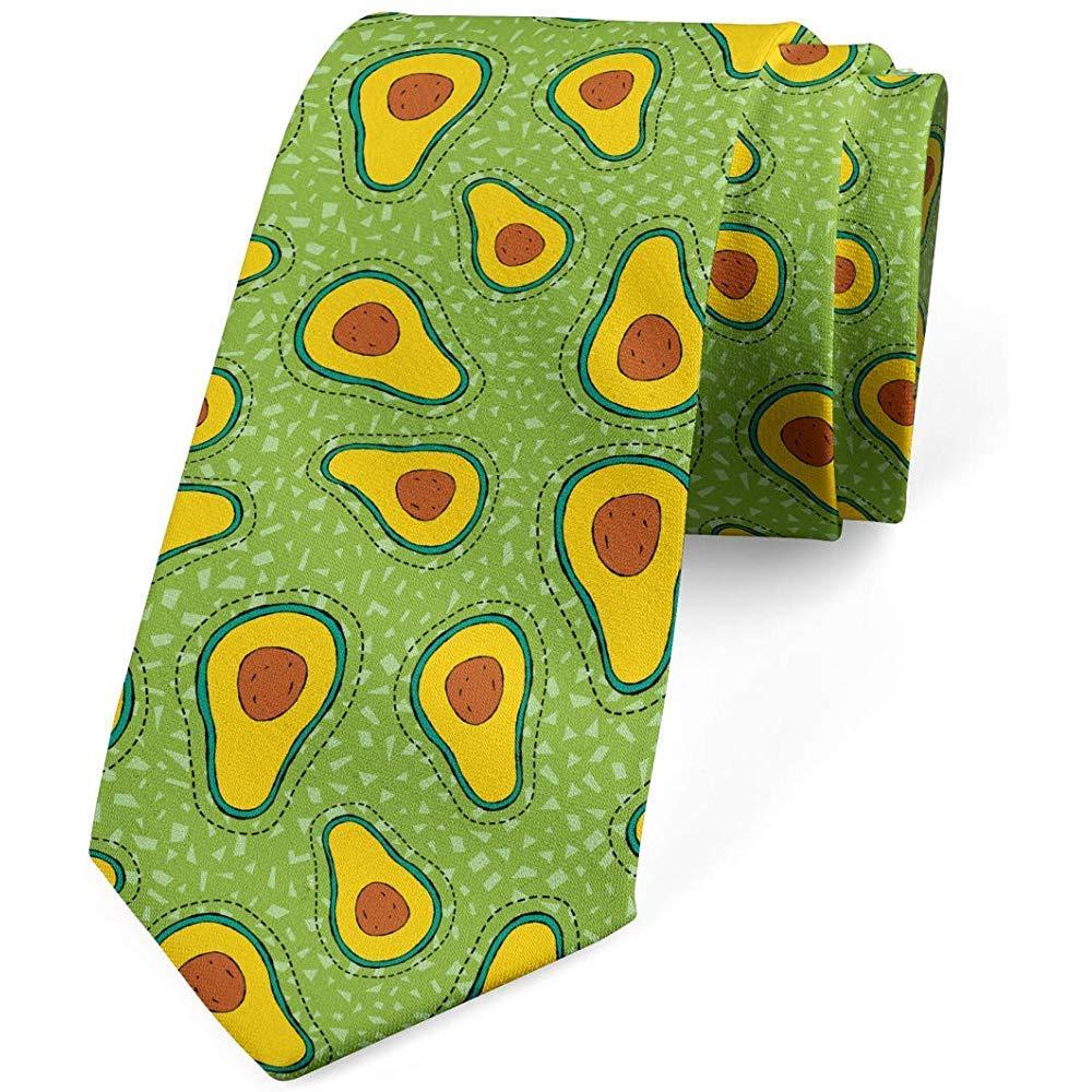 Corbata, frutas con polígonos minúsculos, verde lima, amarillo ...