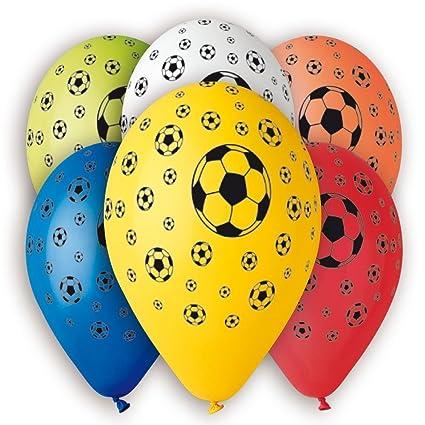 Masti zone pack of 25 multi colour football print latex balloon for masti zone pack of 25 multi colour football print latex balloon for festival wedding junglespirit Image collections