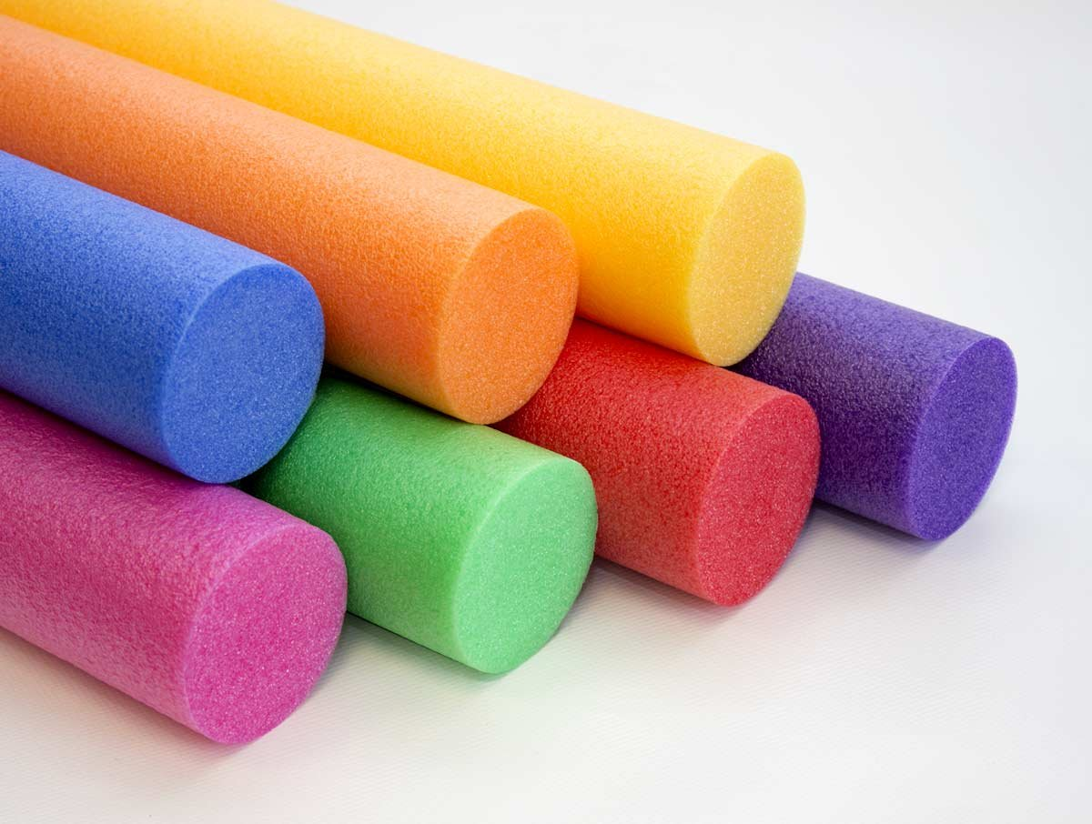 Farbkombination gelb//orange Artikel-Fuchs Schwimmnudel Poolnudel 2er Set 160 cm NMC Comfy/® Noodle