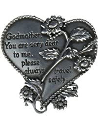 """CA Gift KVC328 Heart Visor Clip, Godmother, 2-3/4"""""""