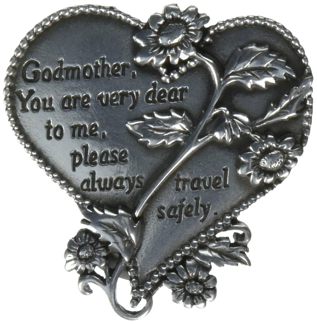 CA Gift KVC328 Heart Visor Clip, Godmother, 2-3/4' 2-3/4 Cathedral Art