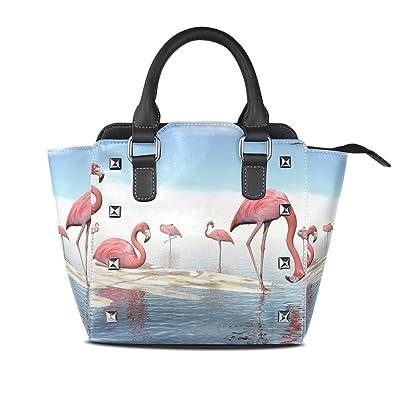 Amazon.com: Bolsas de piel para pintar flamencos, bolsos de ...