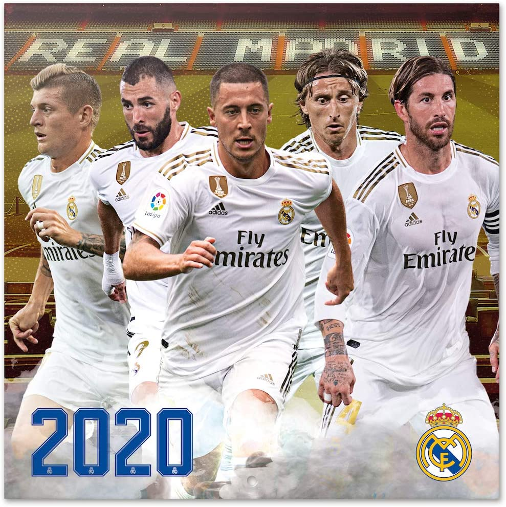 Amazon.: ERIK   Real Madrid 2020 Wall Calendar, 16 Months, 30