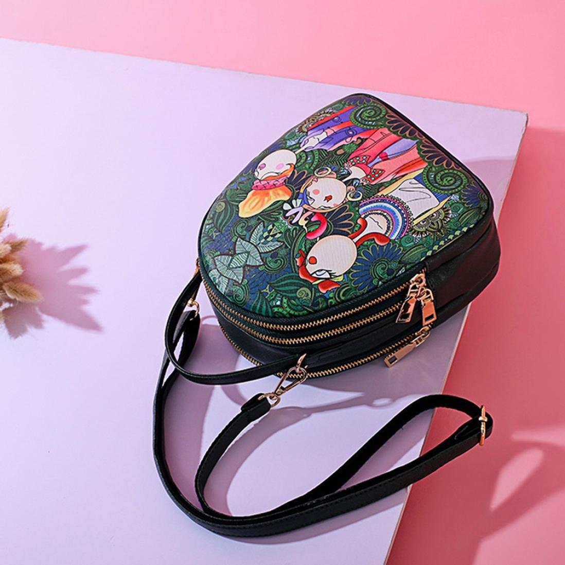 YJYDADA - Bolso de mano para mujer, diseño de bosque y niñas, con tres rejillas y cremallera: Amazon.es: Hogar