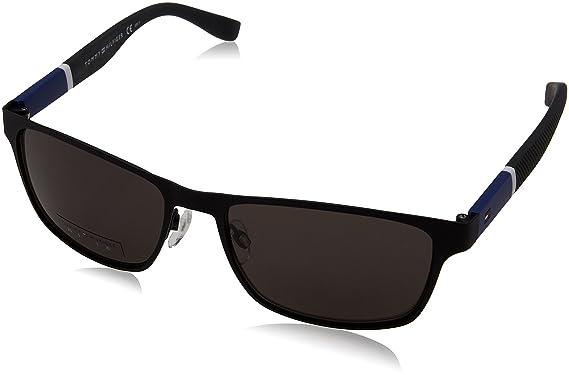 ea3932c4b2 Image Unavailable. Image not available for. Color  Sunglasses Tommy Hilfiger  T hilfiger 1283 S 0FO3 Matte Black   NR ...