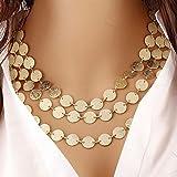 HIRIRI Hot Sale Women Multi-layer Metal Clothing Accessories Bib Chain Necklace Jewelry