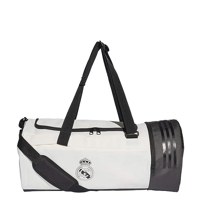 9f3feec219 Amazon.com   adidas 2018-2019 Real Madrid Team Bag (White)   Sports    Outdoors