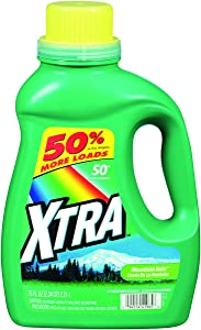 Xtra HE Liquid Laundry Detergent, Mountain Rain, 75 Ounce