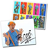 """2-Pack Blippi Autographed Wall Posters - 8.5"""" x 11"""" - Real Blippi Autographs"""