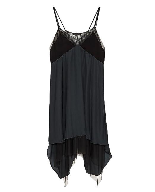Zara - Vestido - para mujer negro S