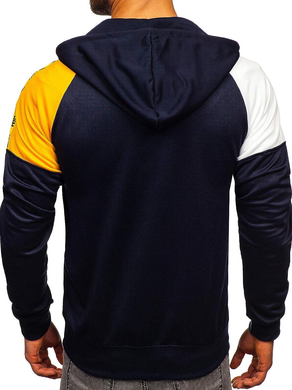 BOLF Mens Hoodies Sweatshirt Jacket Pullover Hoodie Hooded Zip Sport 1A1 Graphic