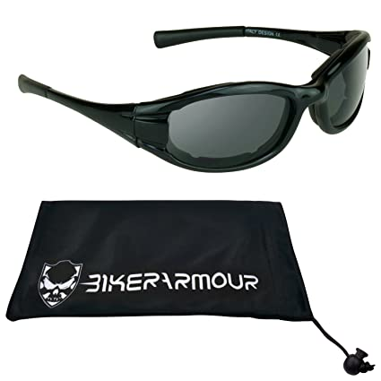 256cb5bbfe Amazon.com  Small Motorcycle Sunglasses Foam Padded for Women