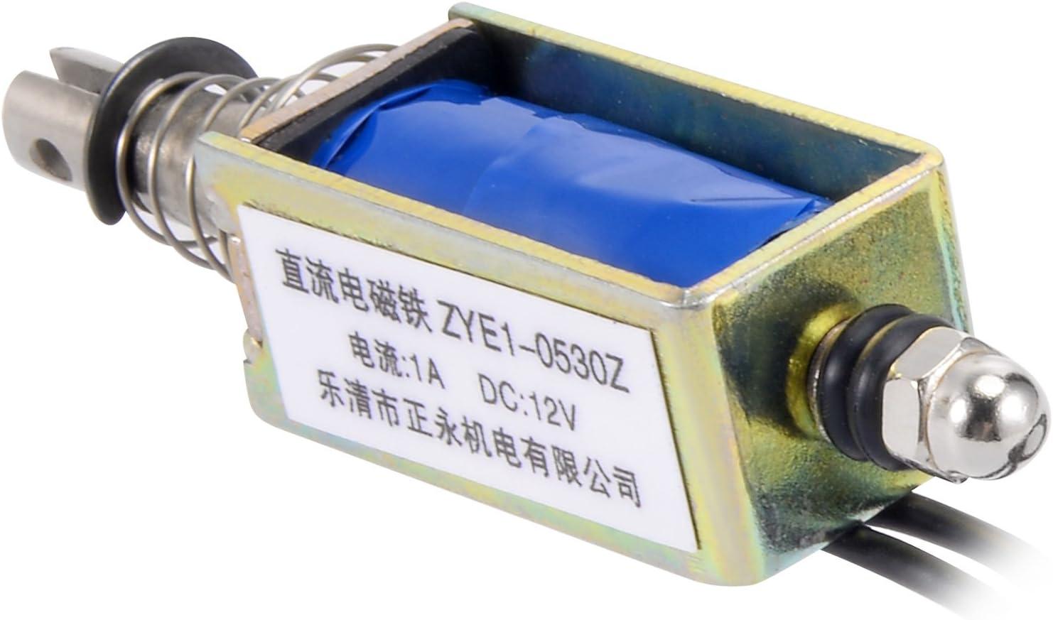 Almencla DC220V Elettromagnete a Solenoide a Telaio Aperto Tipo Push 34,5 Mm 20N 2KG