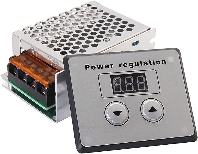 AC 220V L/üfter Drehzahlregler Dimmer Licht Temperatur control Motor Drehzahlregler Einzelphase 9A EU Stecker SCR Spannungsregler 4000W Elektrischer Dimmschalter