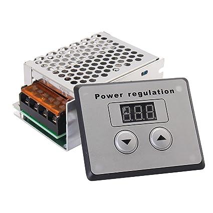 TOOGOO SCR de 4000W 220V AC Regulador de voltaje Controlador de temperatura de velocidad del motor