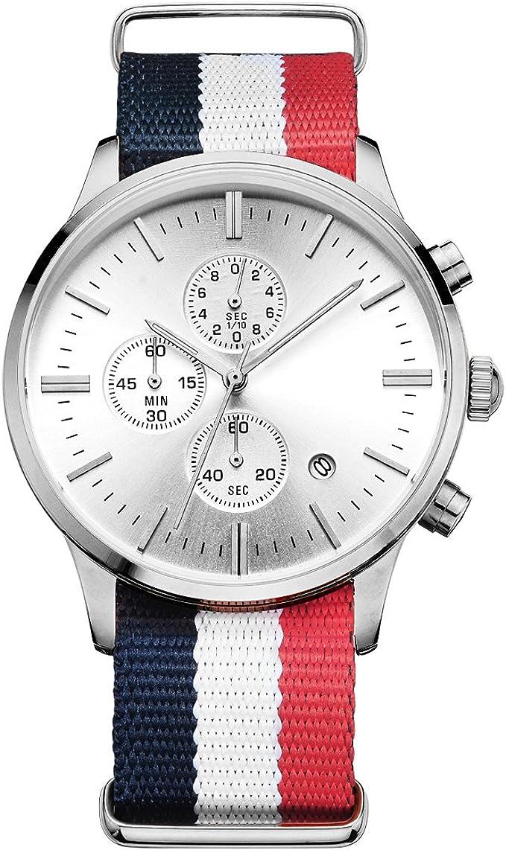 Reloj de pulsera para hombre, de la marca GuTe, con correa de la bandera de Francia: Amazon.es: Relojes