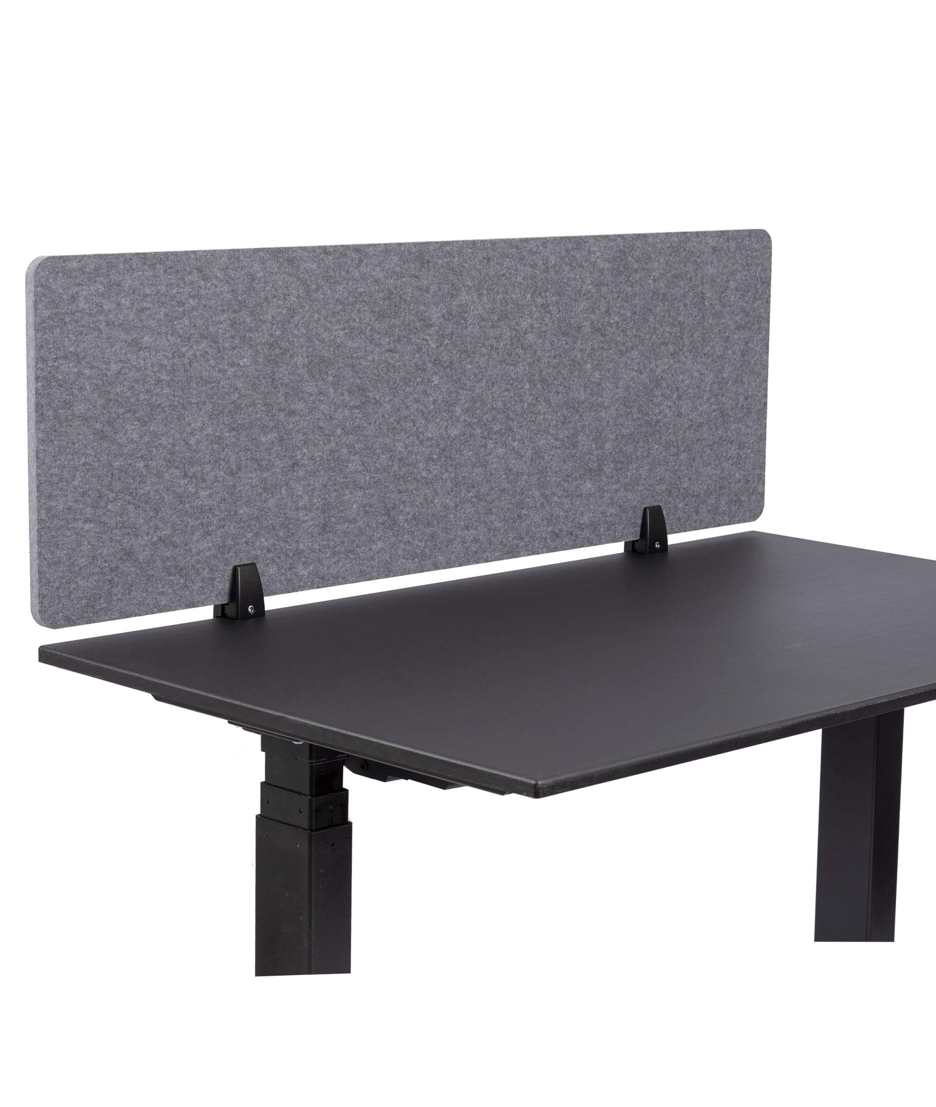 ReFocus Raw Clamp-On Acoustic Desk Divider - Reduce Noise and Visual Distractions with This Lightweight Desk Mounted Privacy Panel (Castle Gray, 48'' X 16'') by Stand Up Desk Store
