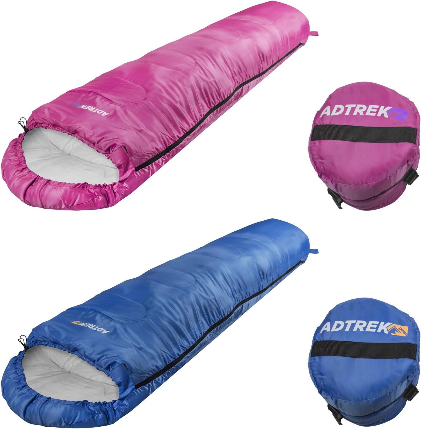 Trespass Bunka Camping 2-3 season Mummy Junior Kids Sleeping Bag Boys Girls