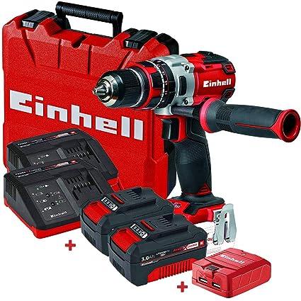 Set taladro sin cable Einhell TE-CD 18V Li 60N.m + 2 ...