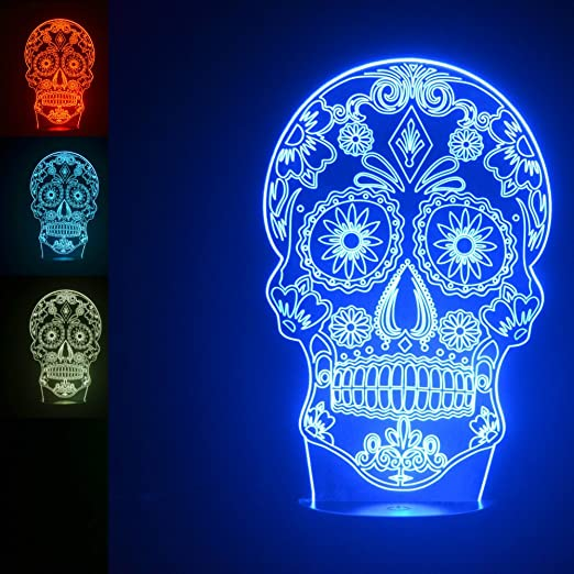 Amazon.com: Lámpara de mesa LED de acrílico con forma de ...