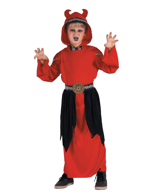 Generique - Disfraz de Demonio secta niño M 7-9 años (120-130 cm ...