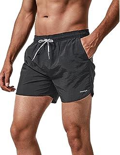 8ddd71e5e4 MaaMgic Men Swimming Shorts Classic Mesh Lined Surf Trunks Quick-Drying  Beach Shorts Adjustable…