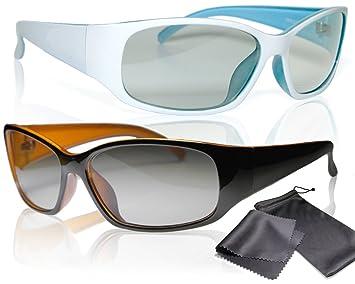 sj3d Gafas 3d pasivo – Juego para él y ella – 2 x 3d gafas de