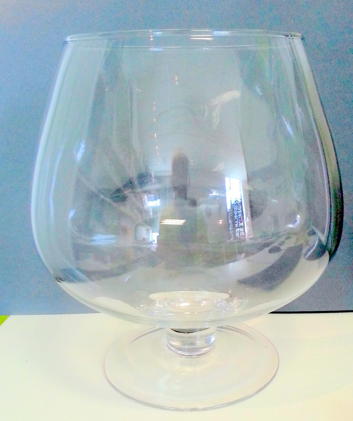 Giant Snifter Large Cognac Glass Decoratable , XXXL Snifter Table Decoration Volume 11-12 Litres, Height Approx. 37 Cm, big opening ca. 17 cm, Oberstdorfer Glashuette