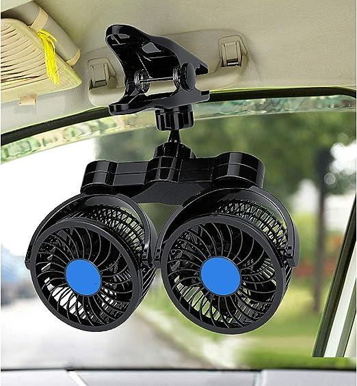 Ventilador Giratorio De Doble Cabeza para Automóvil, Ventilador ...