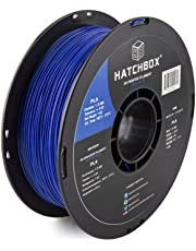 HATCHBOX 3D PLA-1KG1.75-BLU PLA 3D Printer Filament, Dimensional Accuracy +/- 0.05 mm, 1 kg Spool, 1.75 mm, Blue
